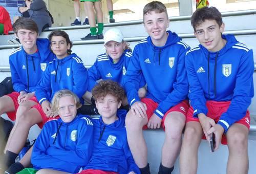 U15s Newcastle Olympic players at Valentine Park, Sydney.
